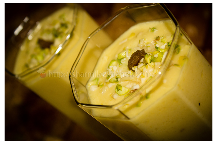 Mango Lassi (North Indian Sweet Yogurt Drink)