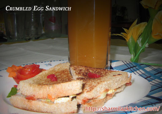 Crumbled Egg Sandwich