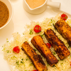Paneer Satay - Grilled Paneer With Thai Seasonings