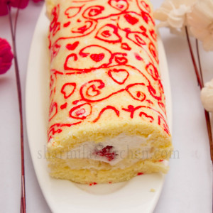Patterned Swiss Roll Cake | Japanese Deco Roll Cake | Valentine's Day Special