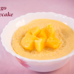 Mango Cheesecake In Microwave In 2 minutes - Sharmilazkitchen
