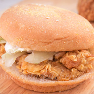 Chicken Zinger Burger - Recipe + Giveaway